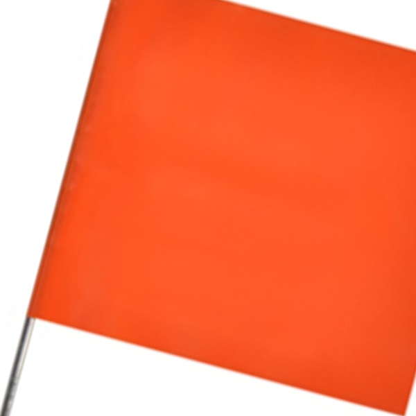 Orange Stake Flags
